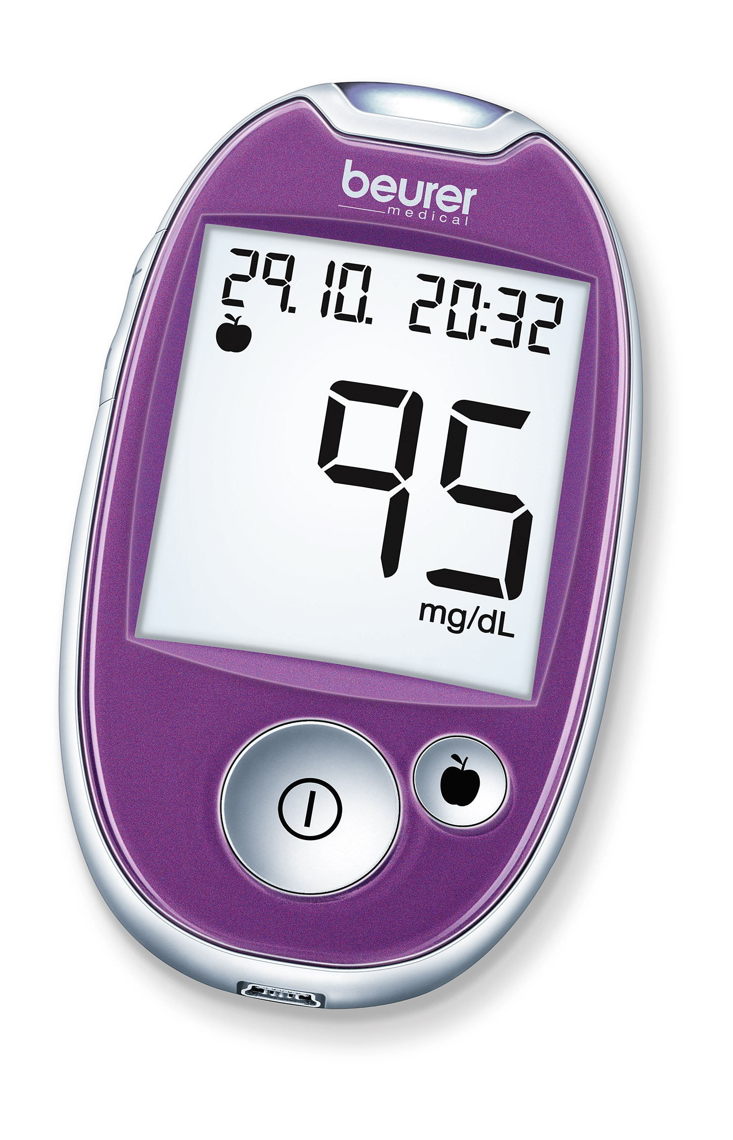 Blood Glucose Monitoring System: Type GL 44 Purple