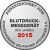 The blood pressure monitor BM 55 has been awarded the title of BLOOD PRESSURE MONITOR OF THE YEAR 2015.