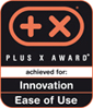 Distinguished with Plus X Award in the category Innovation + Ease of use