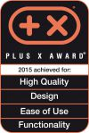 Distinguished with Plus X Award in the category High Quality, DESIGN, EASE OF USE & FUNCTIONALITY