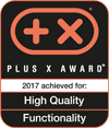 Distinguished with Plus X Award in the category HIGH QUALITY + FUNCTIONALITY