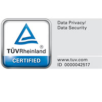 TÜV-certificated data security