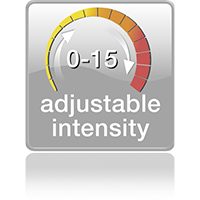 adjustable intensity 0-15